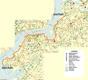 Map of Brooklyn Hike